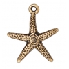Charm Starfish Antique Gold